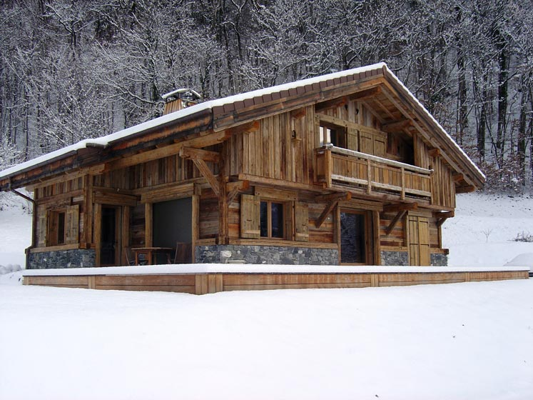 Construction de chalets en bois for Bois de chalet